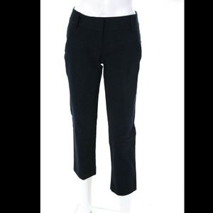 Theory Skinny Cropped Navy Blue Pants 2